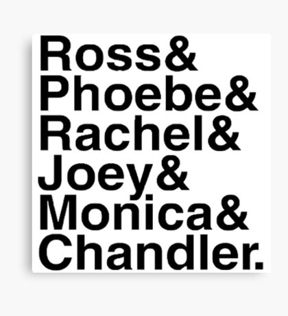 Friends - Names  Canvas Print