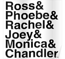 Friends - Names  Poster
