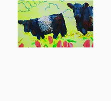 Painting of Two Belted Galloway Cows on Dartmoor T-Shirt