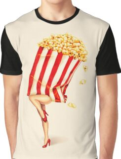 Let's All Go to the Lobby - Popcorn Girl Graphic T-Shirt