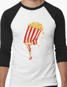 Let's All Go to the Lobby - Popcorn Girl Men's Baseball ¾ T-Shirt