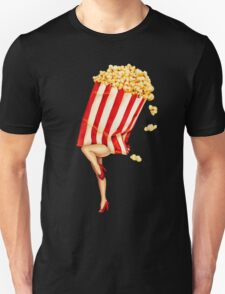 Let's All Go to the Lobby - Popcorn Girl Unisex T-Shirt