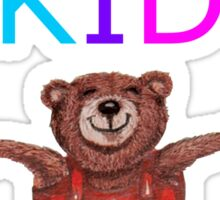 YOGA KID with Teddy Bear in Tree pose Sticker