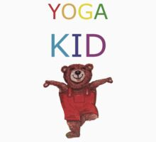 YOGA KID with Teddy Bear in Tree pose Baby Tee