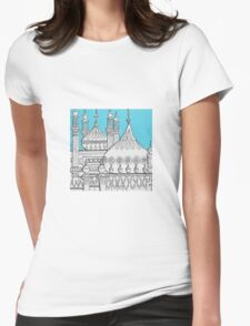 Blue Domes Womens Fitted T-Shirt