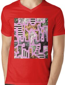 Paint Segregation - Abstract, multi patterned collage Mens V-Neck T-Shirt