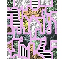 Paint Segregation - Abstract, multi patterned collage Photographic Print