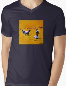 Sheep, Stone Wall II Mens V-Neck T-Shirt