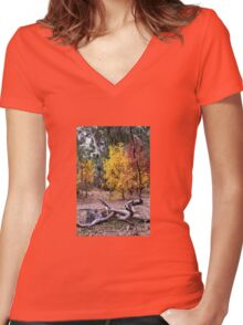 Nature's autumn artistry Women's Fitted V-Neck T-Shirt