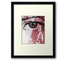 your blood in my eye Framed Print