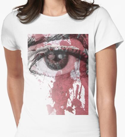 your blood in my eye Womens Fitted T-Shirt