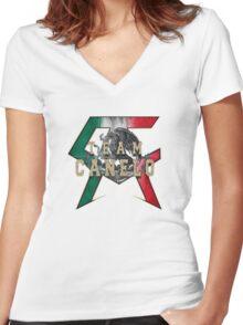 Canelo Saul Alvarez boxer Logo (T-shirt, Phone Case & more) Women's Fitted V-Neck T-Shirt