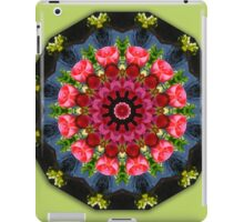 Red blossoms, Floral mandala-style  iPad Case/Skin