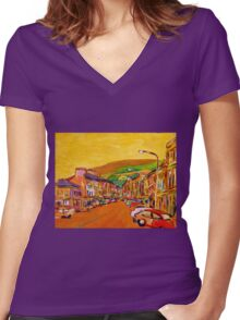 Bantry, Cork Women's Fitted V-Neck T-Shirt