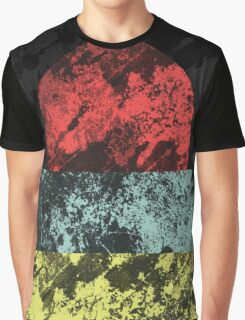 Sunset Beach - Abstract, Marble Effect Painting Graphic T-Shirt