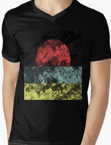 Sunset Beach - Abstract, Marble Effect Painting Mens V-Neck T-Shirt