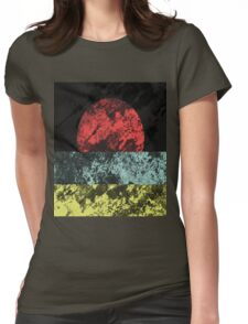 Sunset Beach - Abstract, Marble Effect Painting Womens Fitted T-Shirt