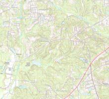 USGS TOPO Map Alabama AL Phenix City 20110923 TM Sticker