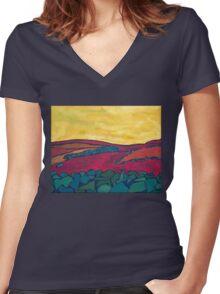 Stone Walls, No Sheep 1 Women's Fitted V-Neck T-Shirt
