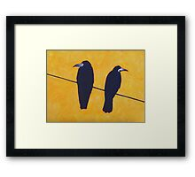 2 Rooks, 1 Wire Framed Print