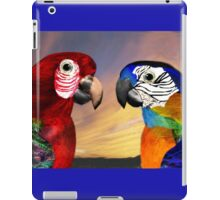 HYPER PARROTS / RED AND BLUE ARA iPad Case/Skin
