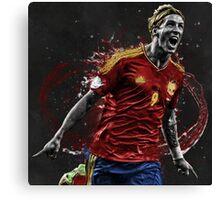 Fernando Torres - Splatter Canvas Print
