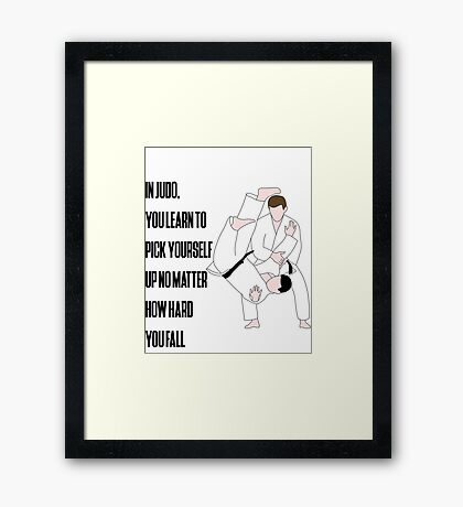 Judo Quote Framed Print