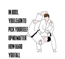 Judo Quote Photographic Print