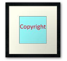 More copyright Framed Print
