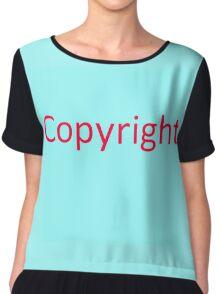 More copyright Chiffon Top