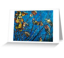 Golden Leaves III Greeting Card