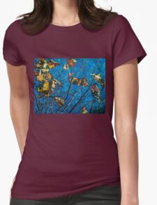 Golden Leaves III Womens Fitted T-Shirt
