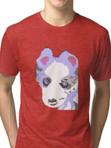 Collie Puppy blue merle Tri-blend T-Shirt