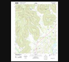 USGS TOPO Map Alabama AL Doran Cove 20111013 TM Unisex T-Shirt