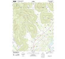 USGS TOPO Map Alabama AL Doran Cove 20111013 TM Photographic Print