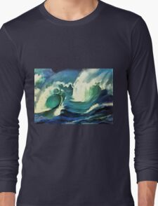 Going With The Flow Ocean Waves T-Shirt
