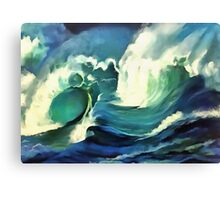 Going With The Flow Ocean Waves Canvas Print