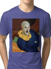 vintage famous art - John Everett Millais - George Luks A Clown Tri-blend T-Shirt