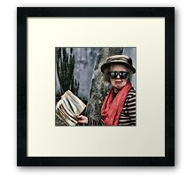 The Librarian Future 2063 Framed Print