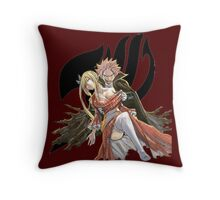Natsu & Lucy Vampire - Black Logo Throw Pillow
