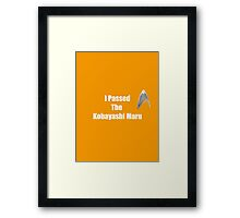 I Passed (white) Framed Print