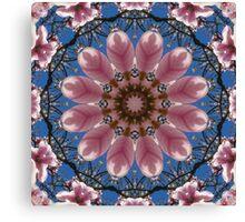 Spring blossoms,  Flower Mandala Canvas Print