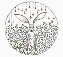 Hare in the starry forest Baby Tee
