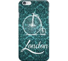 Vintage Penny-Farthing Bicycle in London iPhone Case/Skin