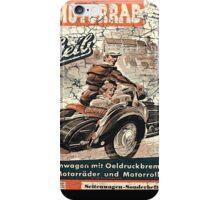 vintage sidecar iPhone Case/Skin