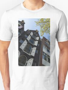 Amsterdam Spring - Arched Windows and Shutters - Right Unisex T-Shirt