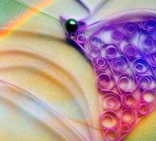 A beautiful quilled purple heart Sticker