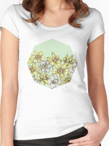 Field of Daffodils Women's Fitted Scoop T-Shirt