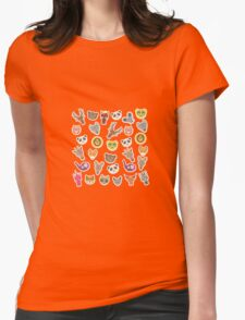 Funny animals on pink-peach T-Shirt
