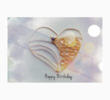 A quilled heart to say Happy Birthday Kids Tee